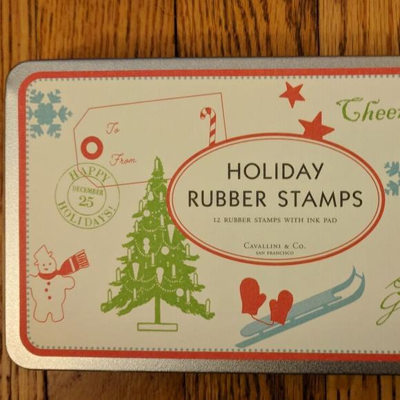 Cavallini & CO. Other - Cavallini & Co. Holiday Rubber Stamp Set NIB